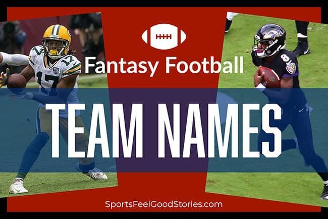 Funny Fantasy Football Team Names 2020 Clever Good And Best In 2020 Football Team Names Team Names Fantasy Football