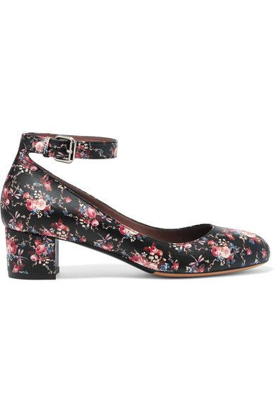 Tabitha Simmons - Martha Floral-print Leather Pumps - Black - IT