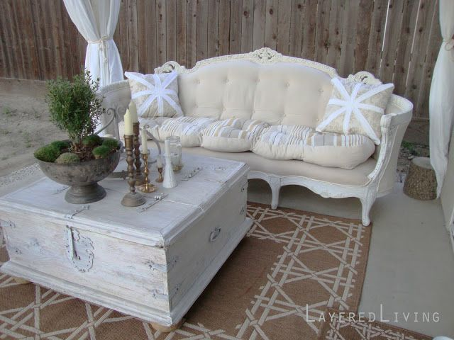 LayeredLivingHome Antique Sofa Reupholster Before And