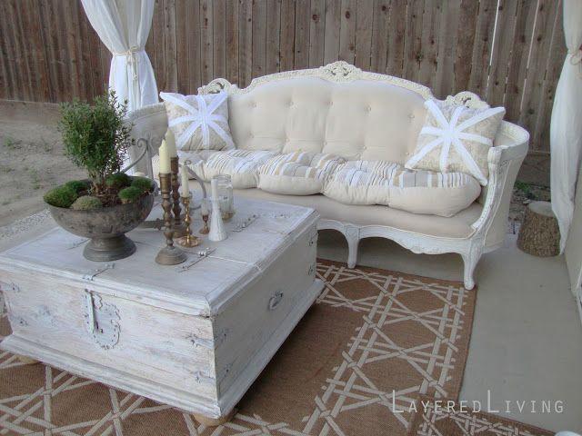 Layeredlivinghome Antique Sofa Reupholster Before And After Reupholstered Pinterest