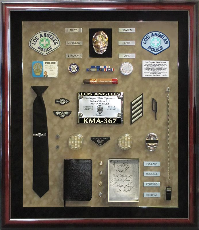 riley, lapd, badge frame
