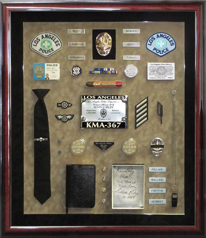 riley, lapd, badge frame