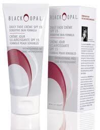 Black Opal Daily Fade Creme Sensitive Skin Formula SPF 15 by black opal. $14.49. formulated for skin that is sensitive, disinfects, gradually remove spots.. can be used as needed to your specific skin needs not for children under age 12.