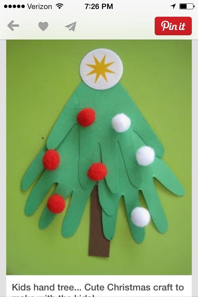 Christmas crafts - Christmas tree hands