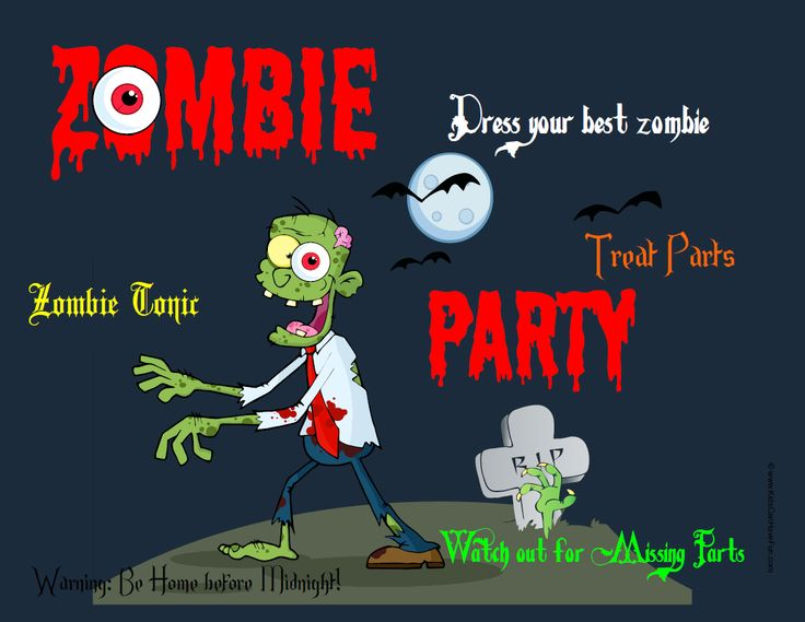 90 best zombies printables images on pinterest | plants vs zombies, Party invitations