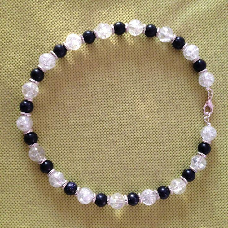 Girocollo Sole&Ghiaccio cristallo di rocca e pietra sole blu., by Agatacriss, 30,00 € su misshobby.com