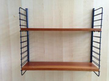 Tomado pilastro teak wandrek boekenrek jaren 50 60 kasten wandmeubels ik - Meubilair storage zwart ...