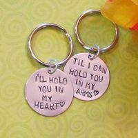 LOVE QUOTE Keychain --  Long Distance Relationship --