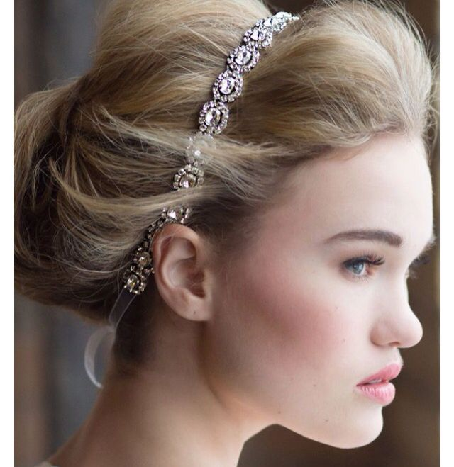 beautiful rhinestone headband for brides prom or any special occasion