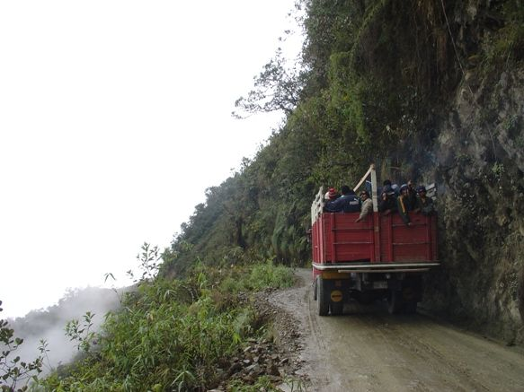 The Worlds Most Dangerous Road. Yungas Road Bolivia La Paz to Coroico