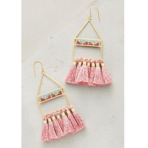 """I just added this to my closet on Poshmark: Anthropologie Bluma Luce Tassel Drop Earrings. Price: $78 Size: 3.25""""L, 1.25""""W"""