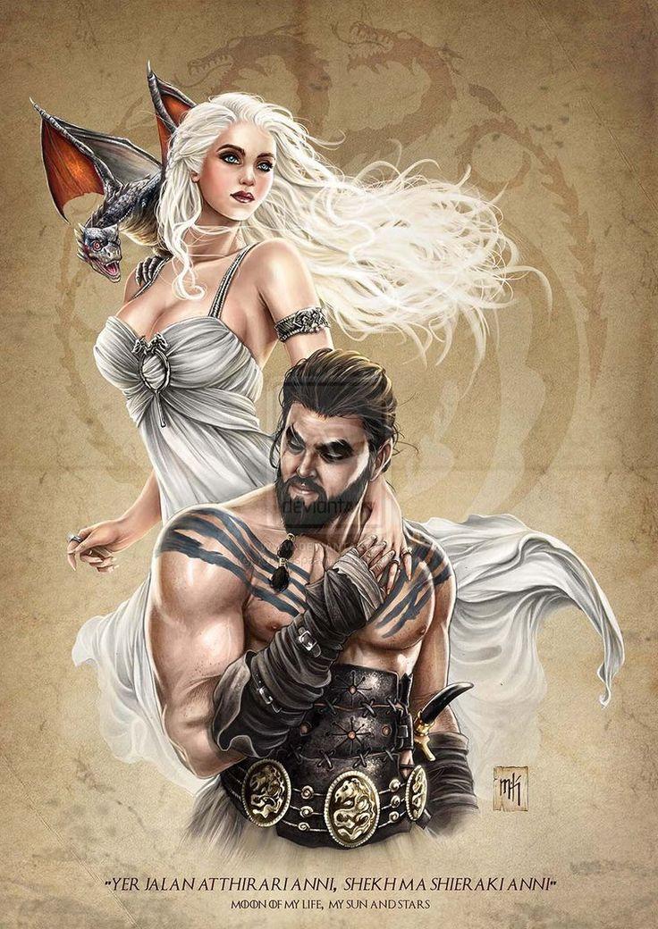Khaleesi & Drogo by Mike Krome