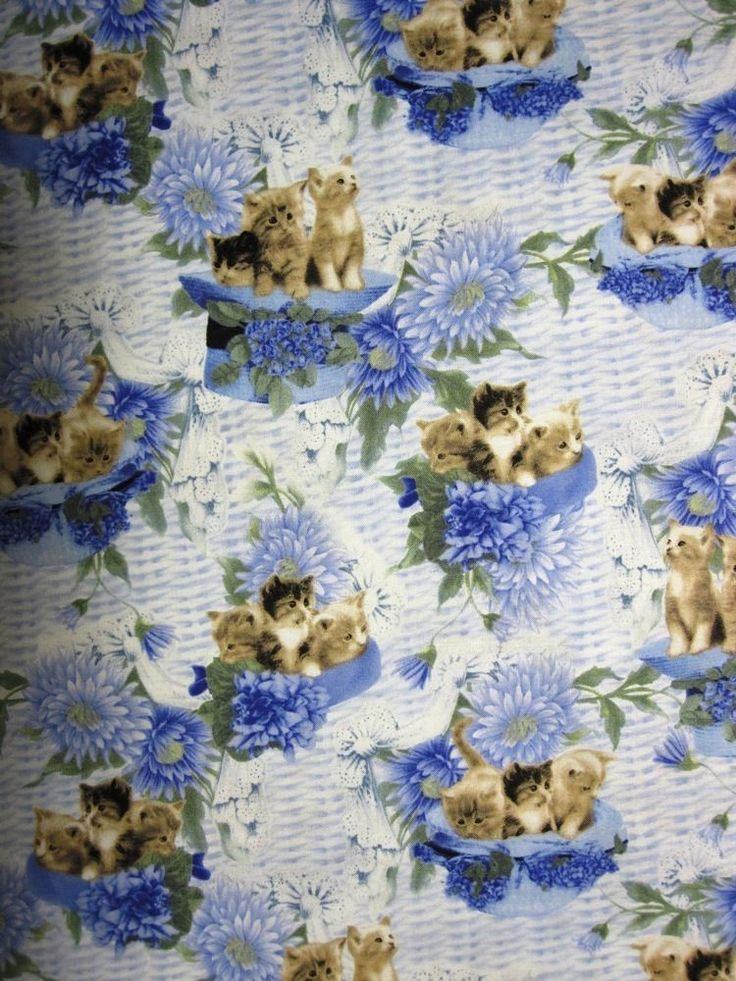 KITTENS IN HATSBLUE PADDED COVER FOR 18X49 IRONING BOARD
