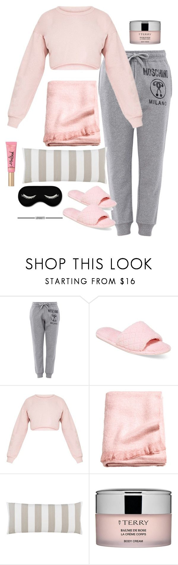 Untitled #54 by nicole-perestrelo21 on Polyvore featuring Moschino, Charter Club, Too Faced Cosmetics, By Terry, H&M and Pine Cone Hill