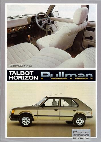 Talbot Horizon Pullman Limited Edition