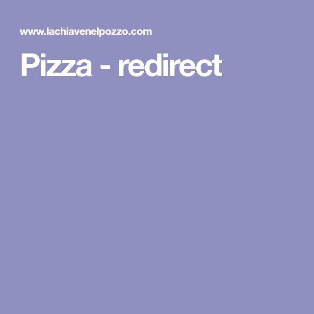 Pizza - redirect