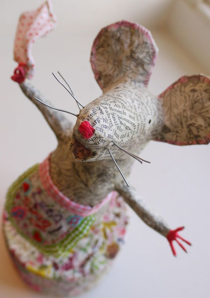 Adorable Evangeline! - papier mache sculpture