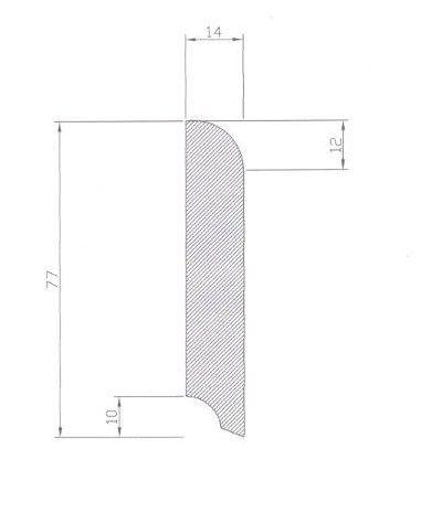 Skirting cross section