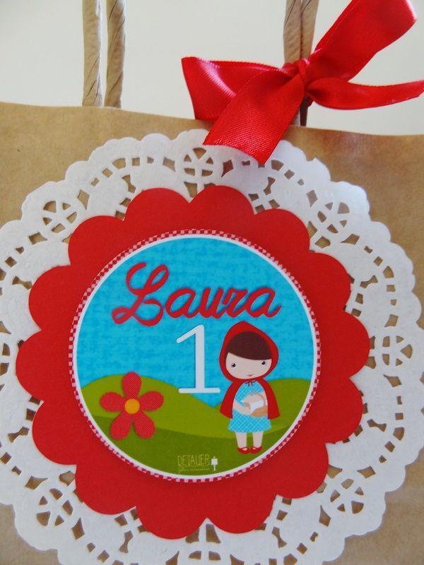 sacolinha lembrancinha no tema Chapeuzinho vermelho para festas personalizadas