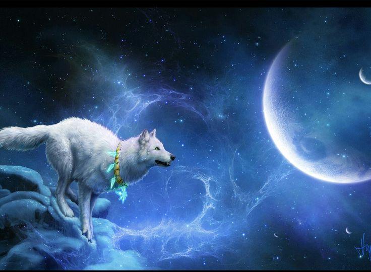 loup et lune