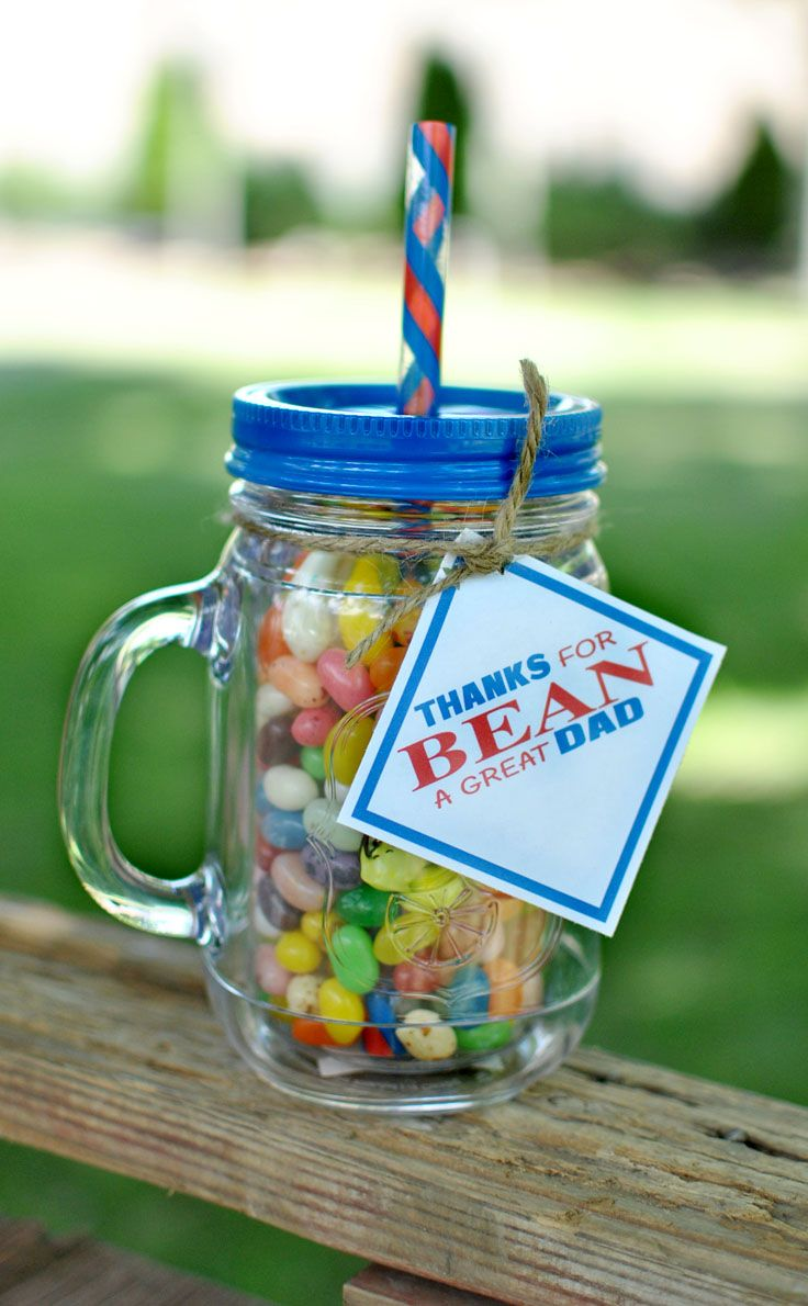 Use this great Father's day beans gift idea that is perfect for dads! #happythoughts #jellybeans