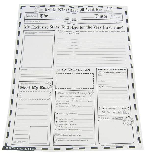 free printable newspaper template for students - cool newspaper template writing pinterest about me