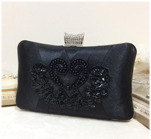 wedding clutch, formal clutch, Black clutch, evening bag, bridesmaid clutch, bridesmaid bag, crystal clutch, evening clutch, Party clutch - Glam Duchess - 1 http://glamduchess.com/collections/bridal-clutches?page=2