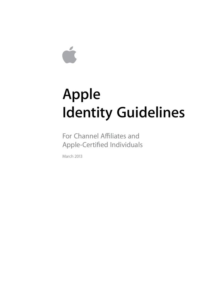 Apple-Identity-Guidelines-Channel-Affiliates-and-Third-Parties | Source: http://www.logodesignlove.com/brand-identity-style-guides | i heart brand