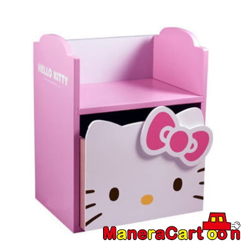 Hello Kitty Head Shape Wooden Multi Purpose Storage Organizer