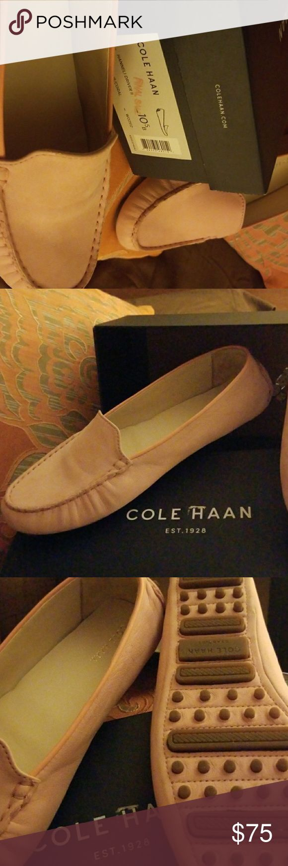 Cole Haan Driver Shoes Blossom Nub/Coral Cole Haan Shoes Flats & Loafers