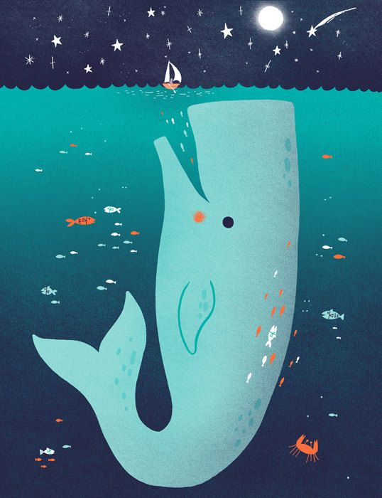Jonah and the Whale by thispapership on Etsy