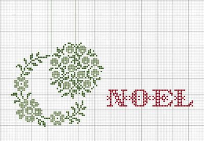 luli free cross stitch Noel on a bowl filler