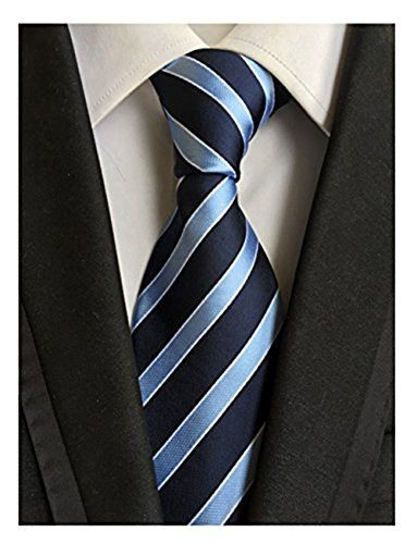 90 kr. MENDENG New Men's Dark Blue Light Blue Striped Silk Tie B... https://www.amazon.co.uk/dp/B00U7N7YAO/ref=cm_sw_r_pi_dp_x_wvy5xb0CTVT94