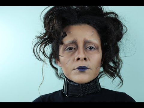 Edward Scissorhands Makeup Tutorial Super easy - YouTube