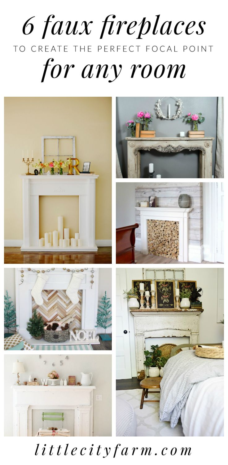 Want To Up Your Farmhouse Style Home Decor Game? Check Out These 6 Gorgeous  Faux. Faux MantleFaux FireplaceFireplacesFarmhouse Style HomesFocal ...
