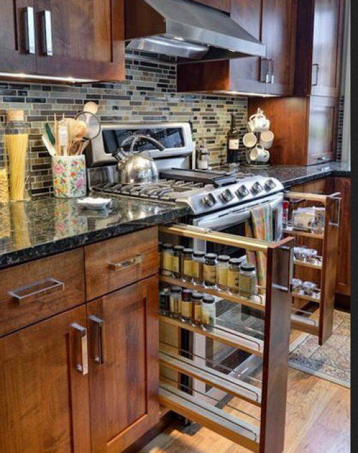 Small Kitchen Organizing Ideas | Click Pic for 20 DIY Kitchen Organization Ideas Pull-out vertical drawer.