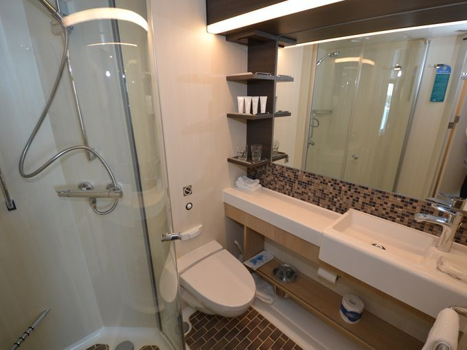 17 best images about amazing cruise ships on pinterest for Caribbean bathroom ideas