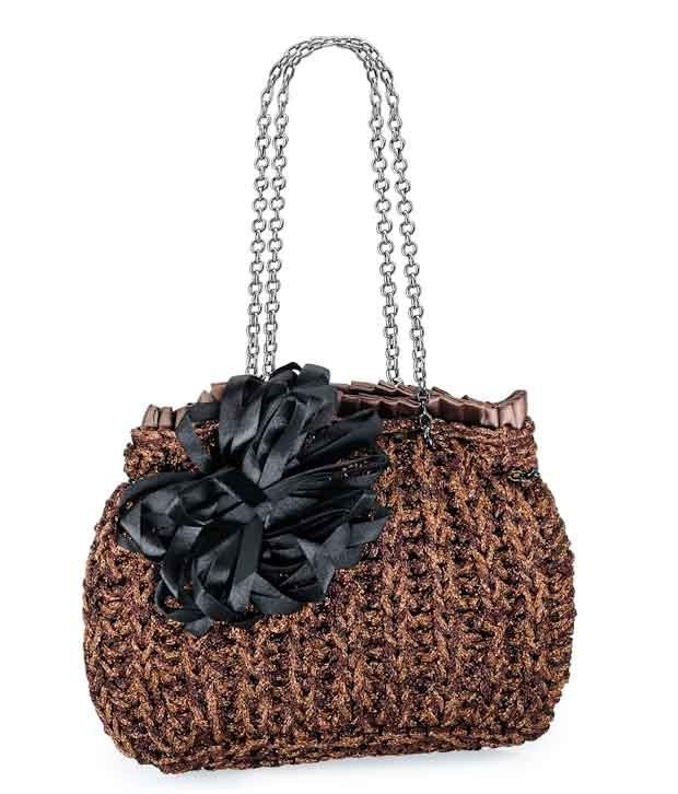 This 1 Bolzo Shimmery Brown croshay Brown gives this clutch an elegant yet breezy look---http://goo.gl/gB14I