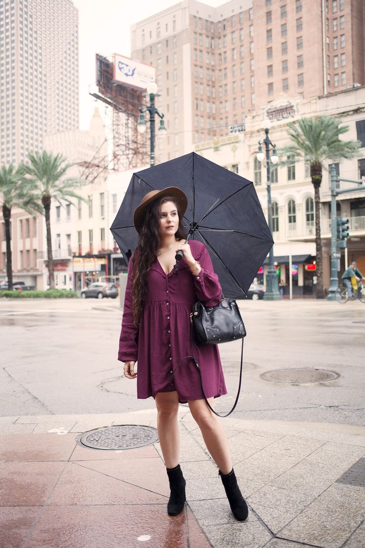 Noelle shares a rainy day look from New Orleans featuring Stella Dallas and Coach!