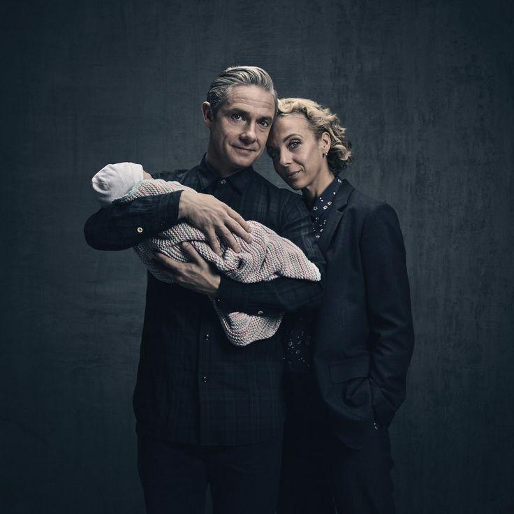 NEW IMAGE: Presenting John, Mary and Rosie Watson! #Sherlock