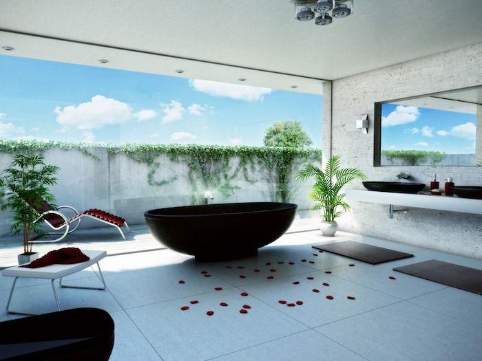 930 best images about salle de bain on pinterest coins - Salle de bain gris et blanc ...