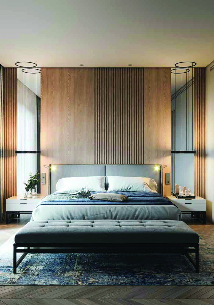 Real Home Inspiration mid century bedroom paint colors