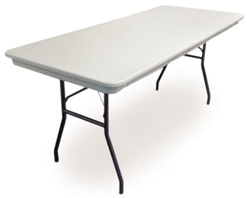 The McCourt ManufacturingCommercialite® Table This industrial strength blow molded plastic folding table is one of the strongest, lightest, most affordable indoor/outdoor folding tables on the market! Learn more here:http://mccourtmfg.com/tables/commercialite-table #McCourtMfg #Commercialite #MadeInTheUSA