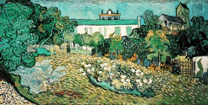 Vincent Van Gogh - Post Impressionism - Auvers - Le jardin de Daubigny - 1890