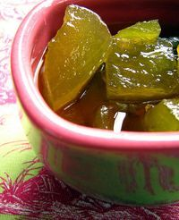 Pickled Watermelon Rind. My grandmother used to make this, my favorite!