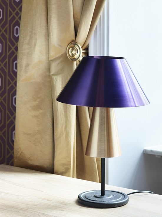 The Beacon Lamp table light by Magnus Pettersen in the Mikado Suite of Oslo's Grand Hotel.