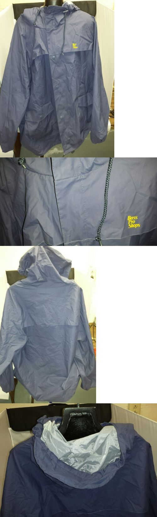 Jackets and Coats 65976: Bass Pro Shop Rain Coat Slicker Xxl With Hood Fishing Gear BUY IT NOW ONLY: $59.99