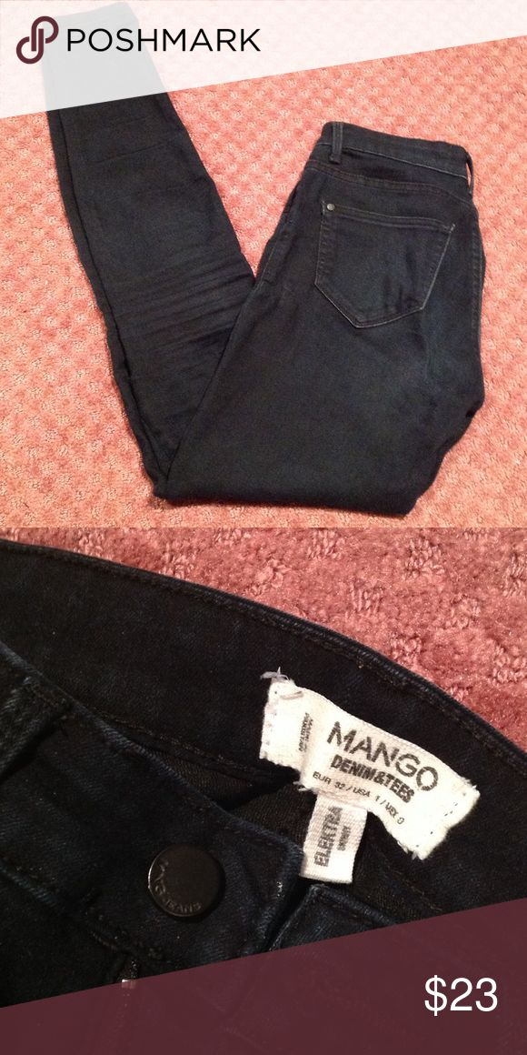Mango Elektra skinny denim True dark blue skinny jeans. Soft fabric Mango Jeans Skinny