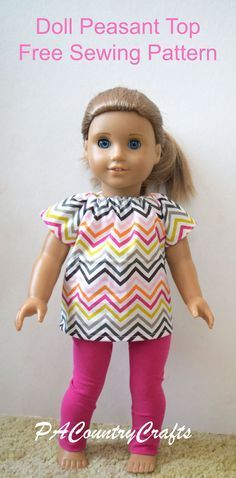 18″ Doll Peasant Top/Baby Doll Dress Free Pattern and Tutorial