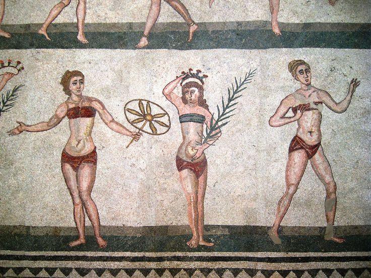 IMG_9031 - Piazza Armerina (EN) - villa romana del casale - mosaico - le ragazze in bikini | Flickr - Photo Sharing!